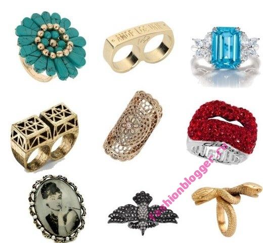 Модные кольца осень 2011