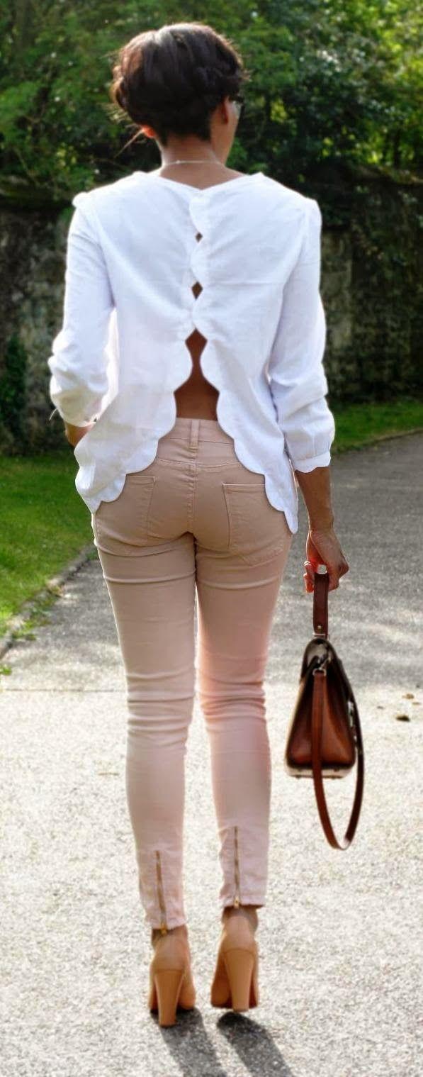 Белые блузки 2014-2015, фото (9)