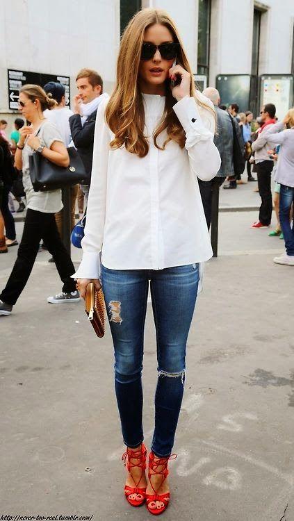 Белые блузки 2014-2015, фото (5)