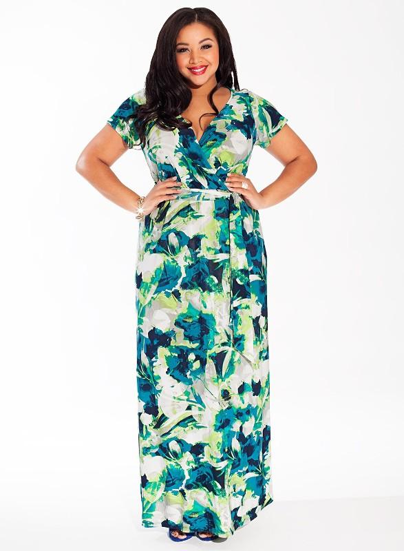 Платья для полных девушек весна 2015