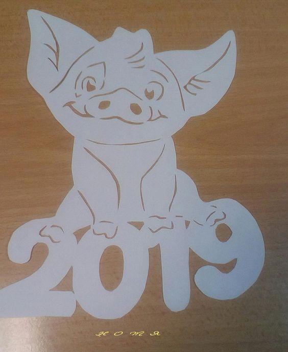 Вырезалки на окна к Новому 2019 году (20)