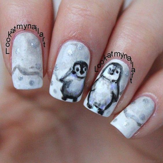 Маникюр с пингвинами (5)