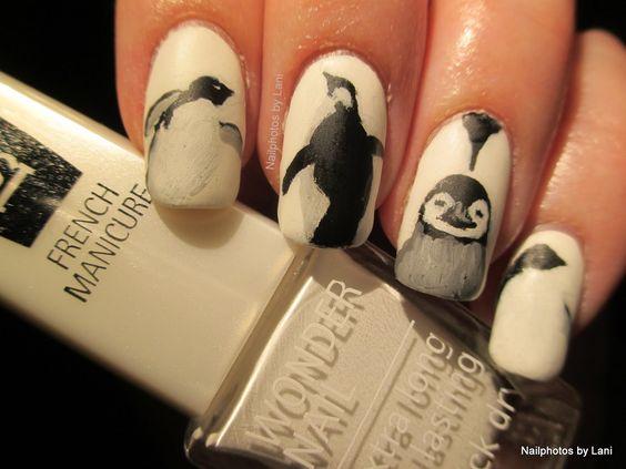 Маникюр с пингвинами (1)