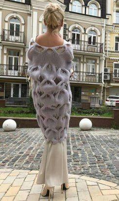 Вязаные платья 2019 (9)