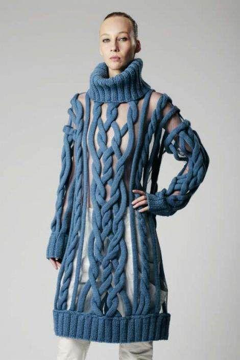 Вязаные платья 2019 (2)