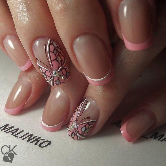 Нежный дизайн ногтей весна 2019 (49)