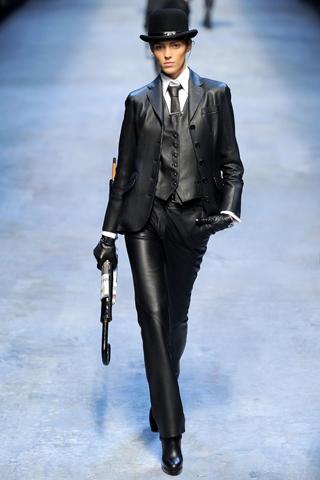 Кожаные брюки 2010-2011 от Herm?s