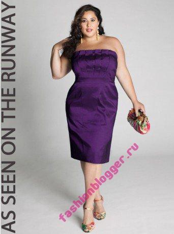 Модные вечерние платья для полных