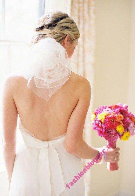 Самые красивые свадебные прически 2011