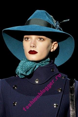 Модные головные уборы осень 2011