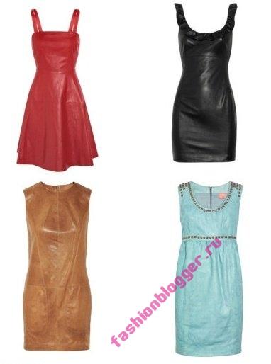 Модные кожаные платья 2011-2012