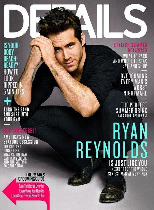 Райан Рейнольдс на обложке журнала Details. Июнь 2011