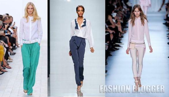 Модные блузы весна-лето 2012