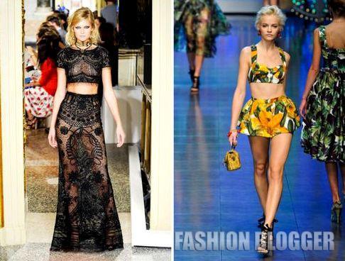 Модные тренды весна-лето 2012