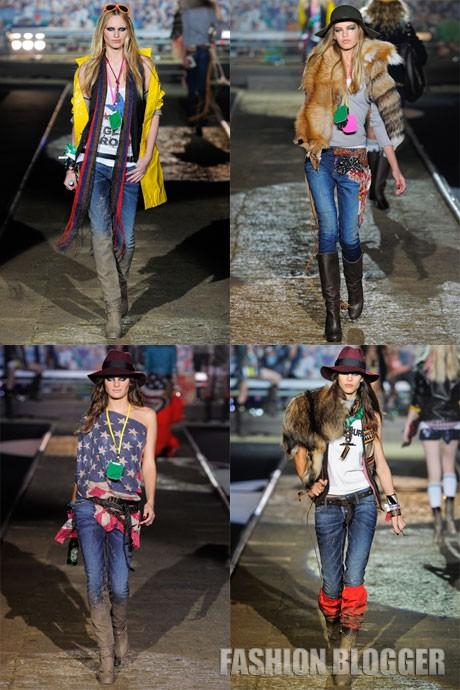 Модные джинсы весна 2012
