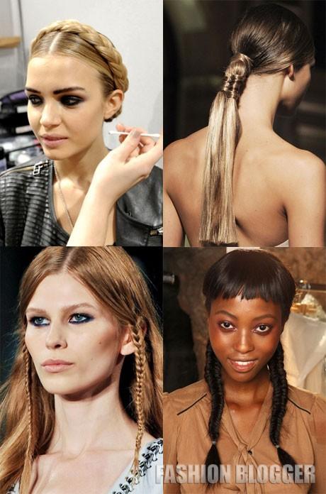 Лёгкие причёски 2012