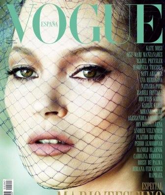 Кейт Мосс на обложке журнала Vogue Испания