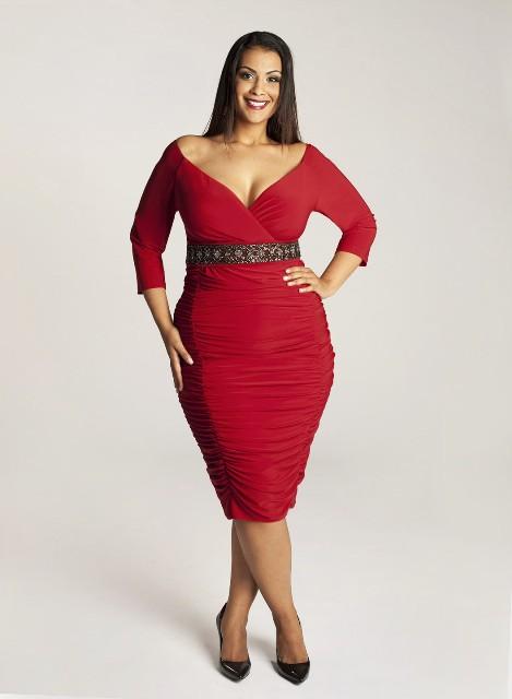 Новогодние платья для полных 2014