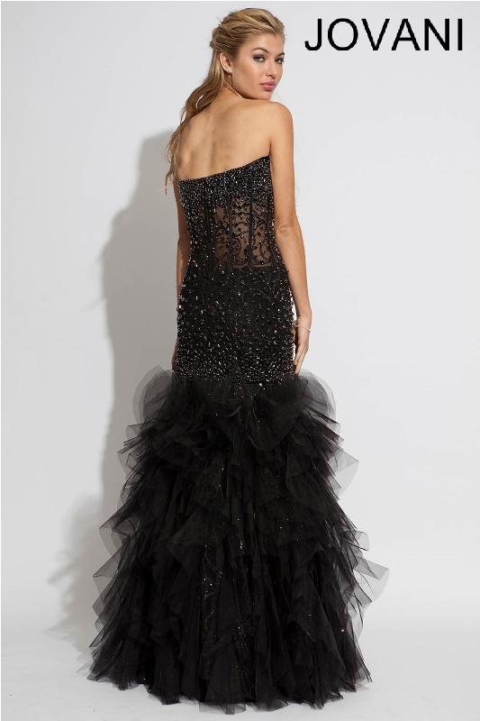 Черное платье в пол, фото