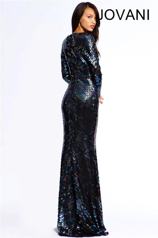 Черное платье в пол, фото (11)