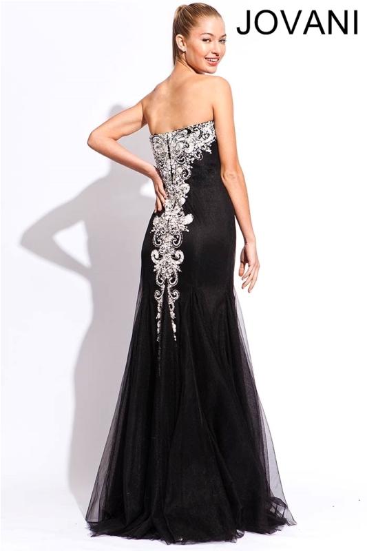 Черное платье в пол, фото (10)
