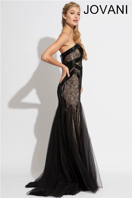 Черное платье в пол, фото (9)