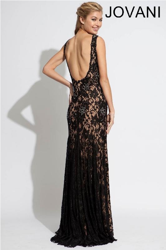 Черное платье в пол, фото (8)