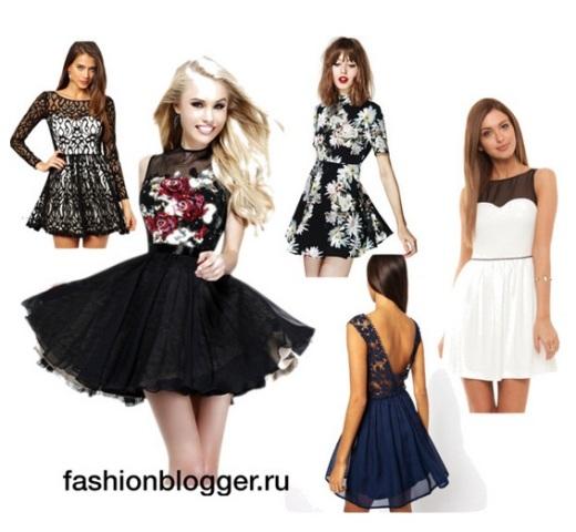 Фасоны платьев 2014: идеи и фото