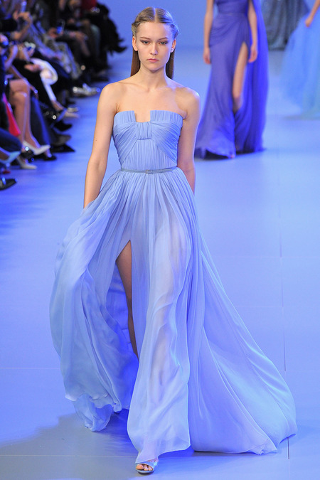 Синее платье 2014: тренд