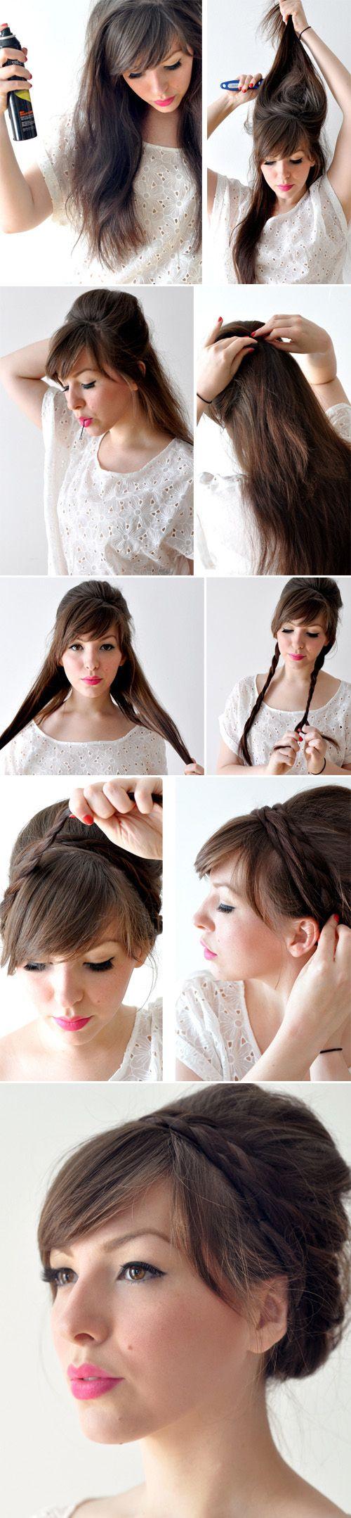 Прически на пышные волосы