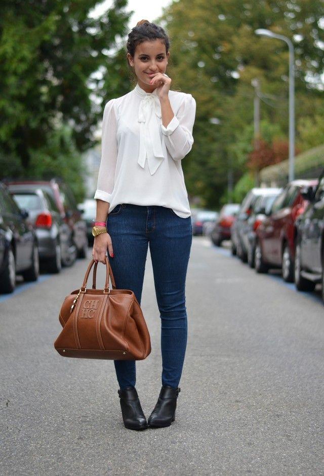 Белые блузки 2014-2015, фото