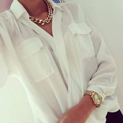 Белые блузки 2014-2015, фото (6)