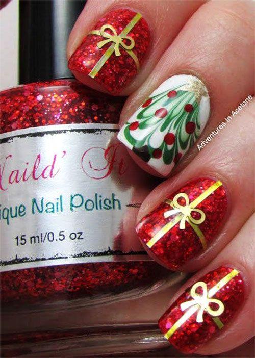 Новогодний дизайн ногтей 2015