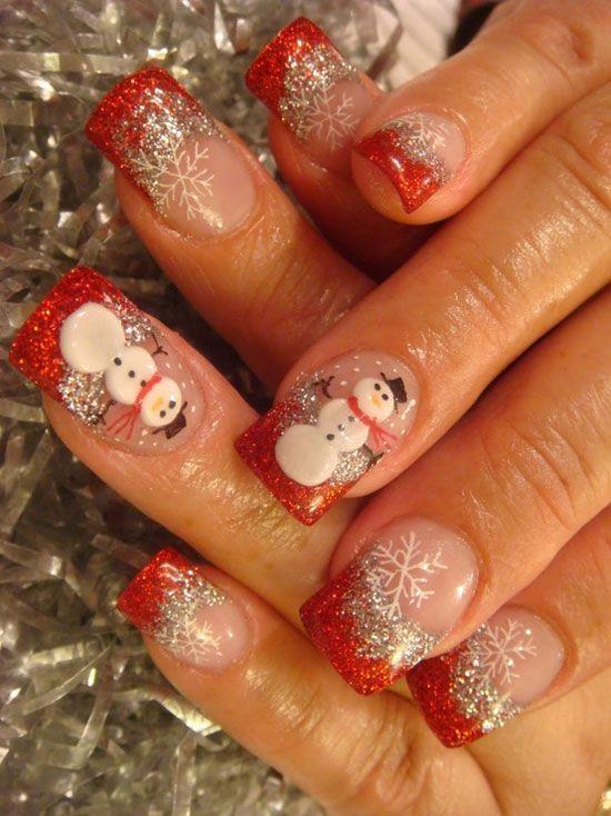 Новогодние рисунки на ногтях 2015 (10)