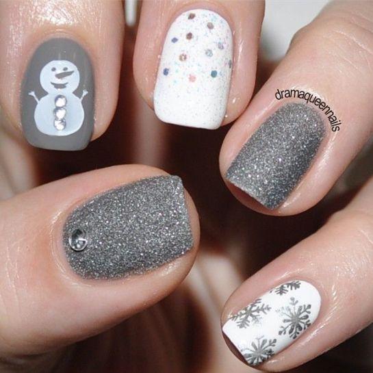 Новогодние рисунки на ногтях 2015 (9)
