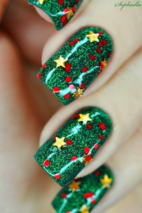 Новогодние рисунки на ногтях 2015 (8)