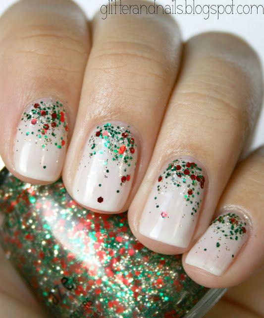 Новогодние рисунки на ногтях 2015 (7)