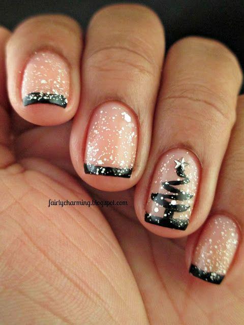 Новогодние рисунки на ногтях 2015 (6)
