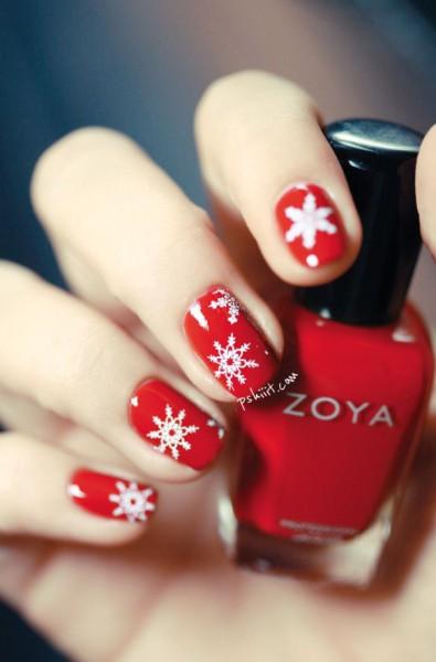 Новогодние рисунки на ногтях 2015