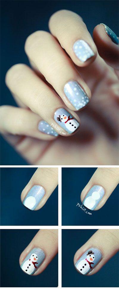 Новогодние рисунки на ногтях 2015 (1)