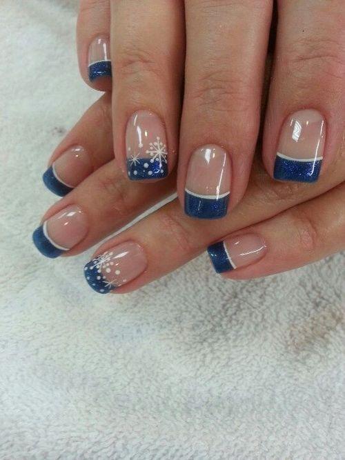 Снежинки на ногтях (14)