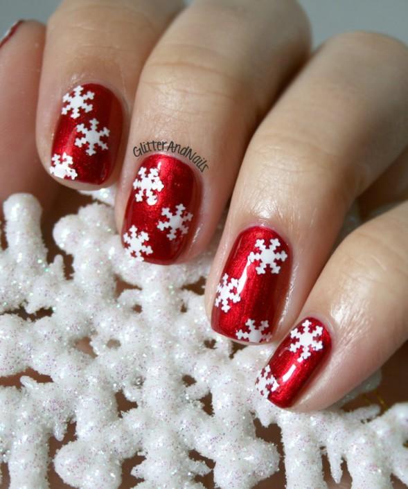 Снежинки на ногтях (15)