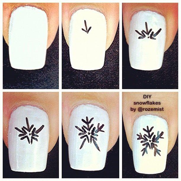 Снежинки на ногтях (11)