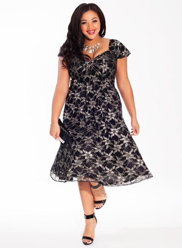 Платья для полных девушек весна 2015 (9)