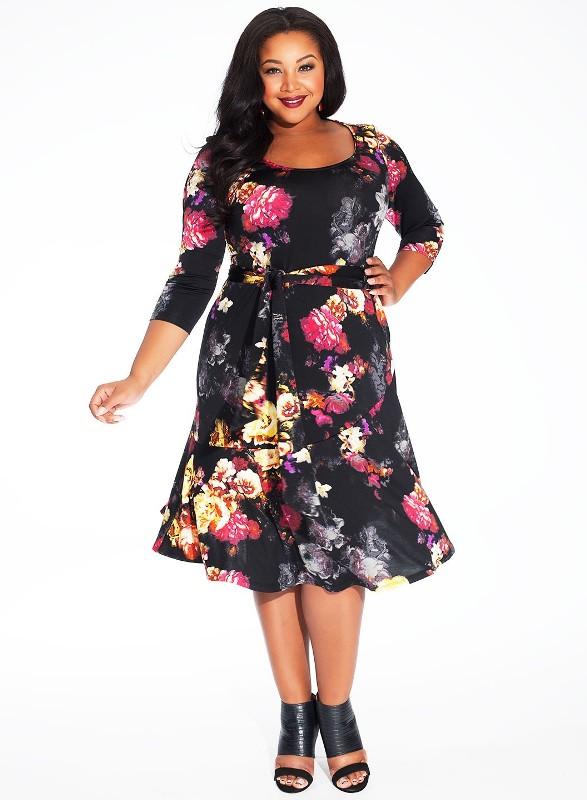 Платья для полных девушек весна 2015 (6)