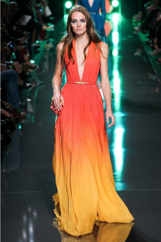 Яркие платья в пол фото