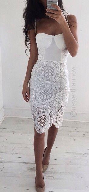 Платья из гипюра и кружева 2016