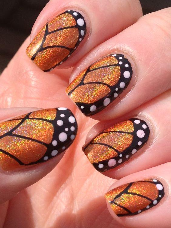 Рисунки на ногтях летние бабочки