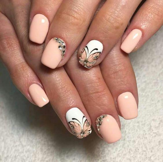 Дизайн ногтей 2018 френч с рисунком