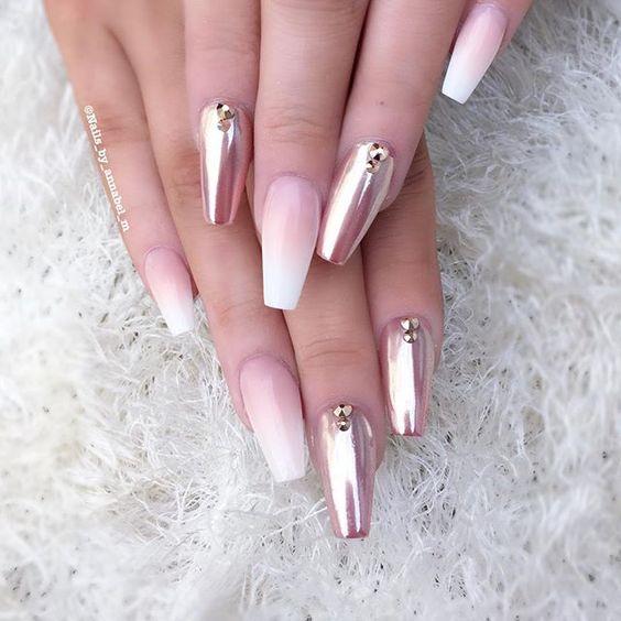 Дизайн ногтей 2017-2018 новинки френч на длинных ногтях